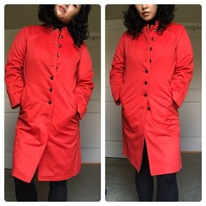 ❤️True Vintage Misty Harbor Red Trench Coat